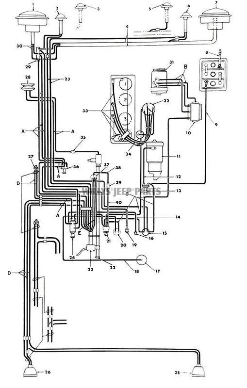 1951 willys jeep ignition wiring diagram  jeep  auto